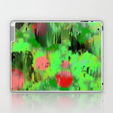 Red dots on green Laptop & iPad Skin