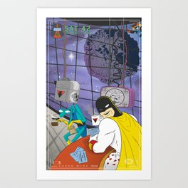 Space Ghost Coast to Coast Art Print