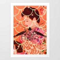 Gion Higashi-Tangerine Art Print