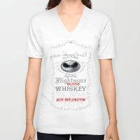 jack skellington V-neck T-shirts featuring Halloween Parody Nightmare jack skellington by Three Second