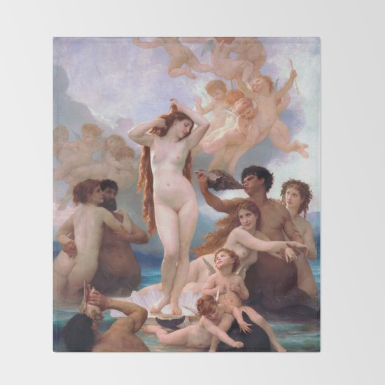 The Birth of Venus by William Adolphe Bouguereau by nudeart