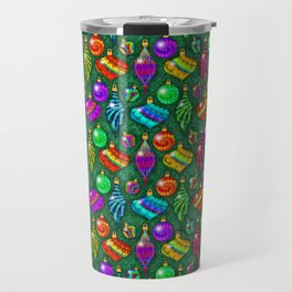 Tie Dye Holiday Ornaments Travel Mug
