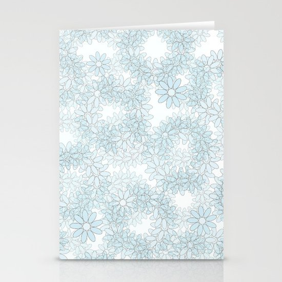 Blue flowers Stationery Cards