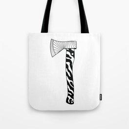 The Zebra Axe - Black/White Tote Bag