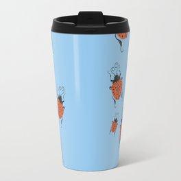Lots of little Ladies Blue Travel Mug