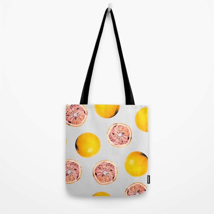 Grapefruit Pattern #society6 #decor #buyart Tote Bag