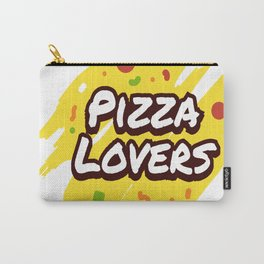 Pizza Lovers Typography Carry-All Pouch