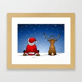 waiting for christmas Framed Art Print