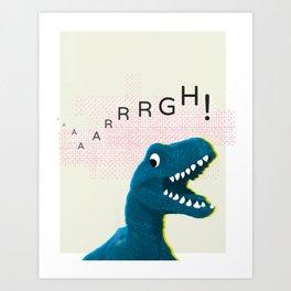 Dinosaur Run! Art Print