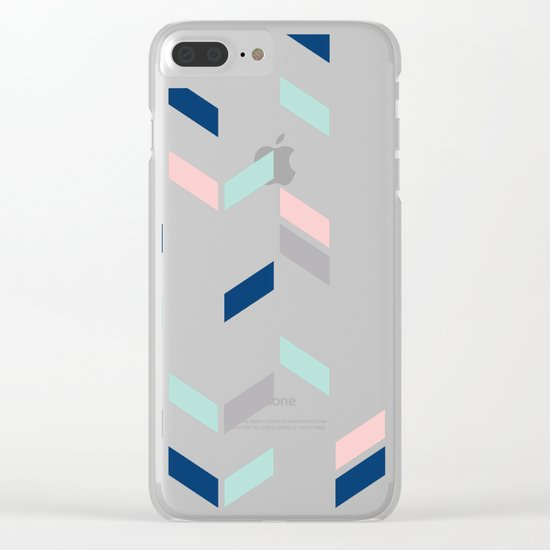 Herringbone Clear iPhone Case