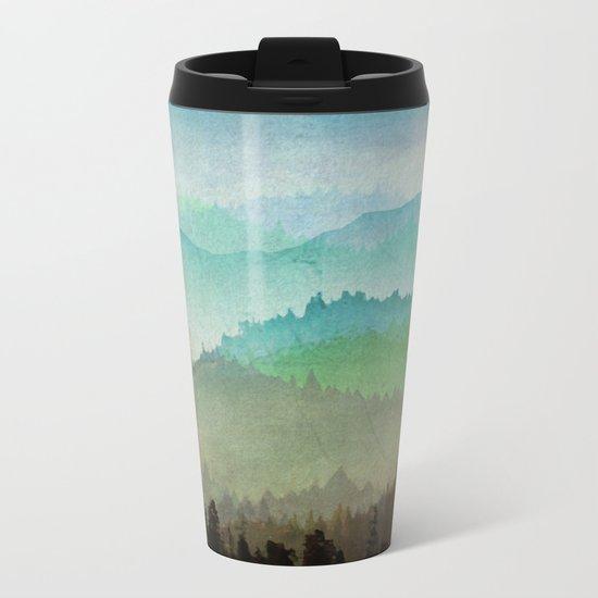 Watercolor Hills Metal Travel Mug
