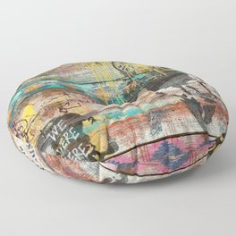 Art isn't a Crime (Molotov Cocktail) Floor Pillow
