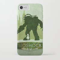 bioshock iPhone & iPod Cases featuring Vector Bioshock by LoweakGraph