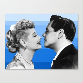 lucy and desi blue Canvas Print