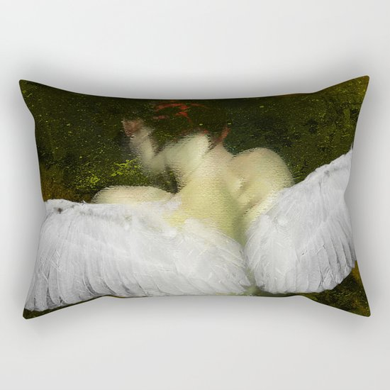 The angel of the hope Rectangular Pillow