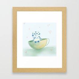 Cup Cat Framed Art Print