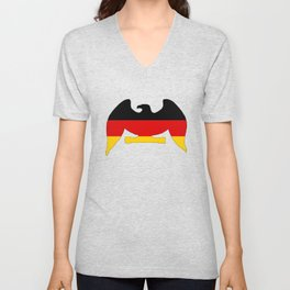 German Flag - Eagle Unisex V-Neck