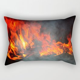 Fire and smoke Rectangular Pillow