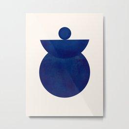 Modern Minimal Abstract Blue #4 Metal Print