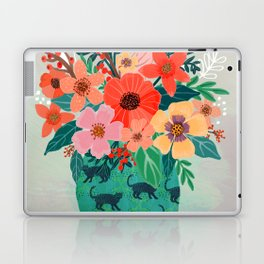 Jar with flowers, cute floral bouquet Laptop & iPad Skin
