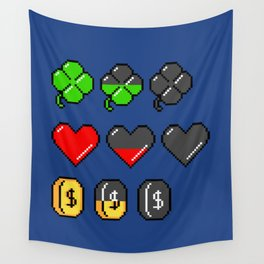 Video Game Stats Wall Tapestry