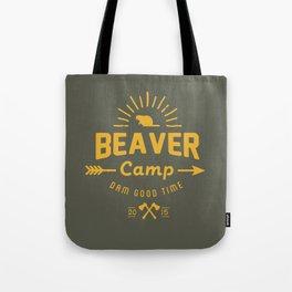 Beaver Camp Tote Bag