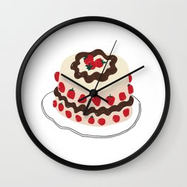 Whole Strawberry Cake Wall Clock
