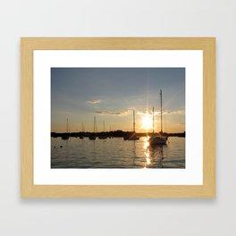 Sails at Sunset Framed Art Print