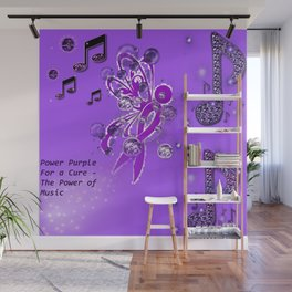 Power Purple For a Cure - The Power of Music Wall Mural