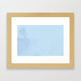 Tree In Blue Framed Art Print