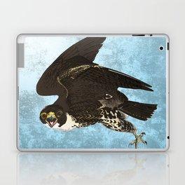 The hawk hangs perfect in mid air.. Laptop & iPad Skin