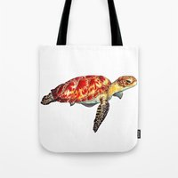 turtle Tote Bags featuring Turtle by Alexander Cox