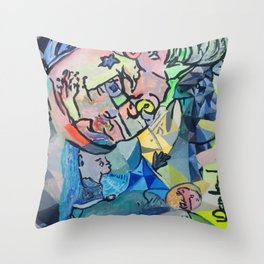 Connecting the unconnected. Throw Pillow