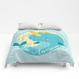 NARWHAL - BE AWESOME! Comforters
