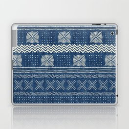 Mud Cloth Geometric Stripe Navy Laptop & iPad Skin