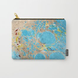 Abstract Organic Water Marbling Carry-All Pouch