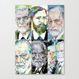 SIX TIMES SIGMUND FREUD Canvas Print