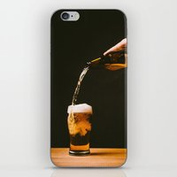 beer iPhone & iPod Skins featuring Beer by Floyd Triangle