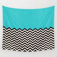 chevron Wall Tapestries featuring Follow the Sky by Bianca Green