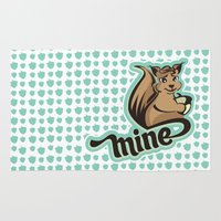 squirrel Area & Throw Rugs featuring Squirrel by VessDSign