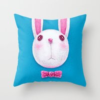 rabbit Throw Pillows featuring Rabbit by Lime