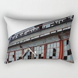 Bethlehem Steel plant windows in color Rectangular Pillow