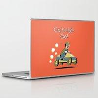 luigi Laptop & iPad Skins featuring Go, Luigi. Go! by danobanano