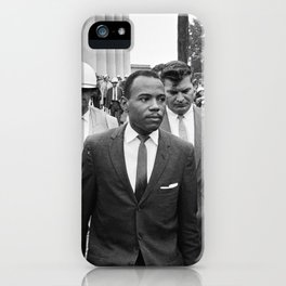 James Meredith walking to class, 1962 iPhone Case