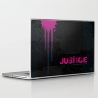 justice league Laptop & iPad Skins featuring JUSTICE by TheCore