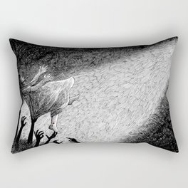 Orpheus and Eurydice - Eurydice falling into the hell again Rectangular Pillow