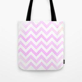 Pale Pink textured Chevron Pattern Tote Bag