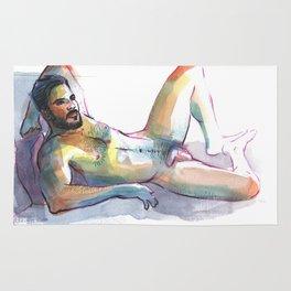 JORDAN, Nude Male by Frank-Joseph Rug