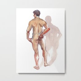 RENATO JR, Nude Male by Frank-Joseph Metal Print
