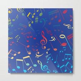 Musical Notes 9 Metal Print